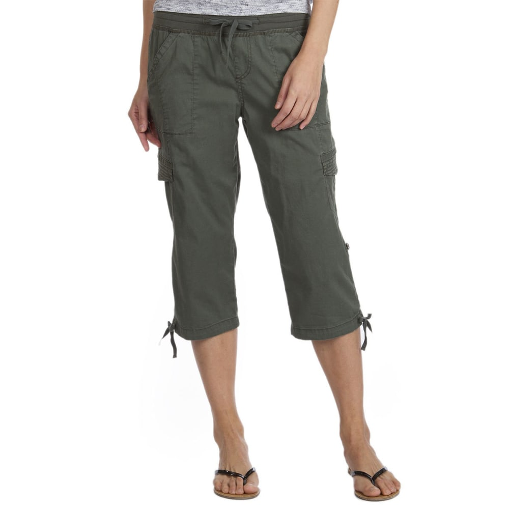 SUPPLIES BY UNIONBAY Women's Harriet Convertible Skimmer Crop Shorts - 339J-FATIGUE GREEN