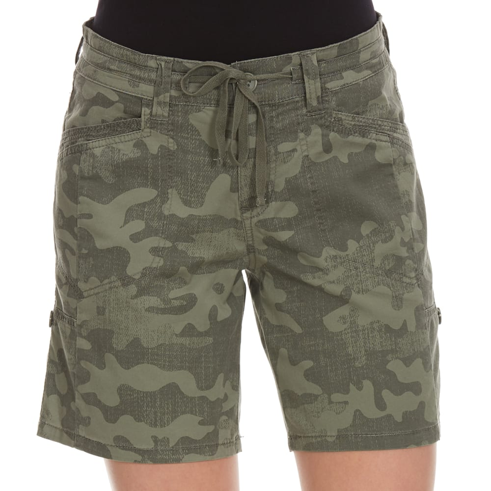 SUPPLIES BY UNIONBAY Women's Gwyneth Convertible Camo Shorts - 353J-LAUREL GRN CAMO