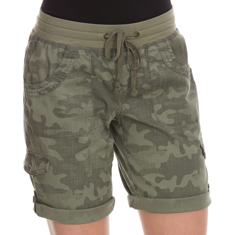 SUPPLIES BY UNIONBAY Women's Tiffany Convertible Camo Bermuda Shorts - 353J-LAUREL GRN CAMO