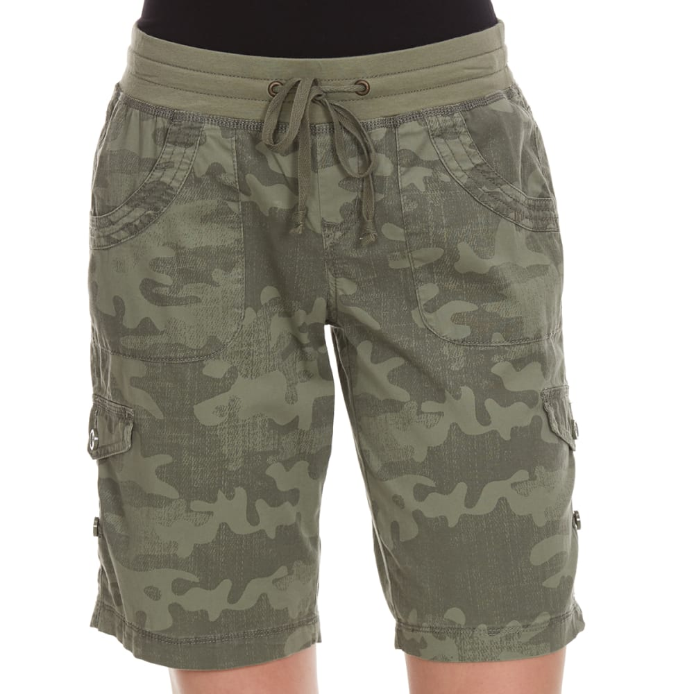 SUPPLIES BY UNIONBAY Women's Tiffany Convertible Camo Bermuda Shorts - 353J-LAUREL GRN CAMO