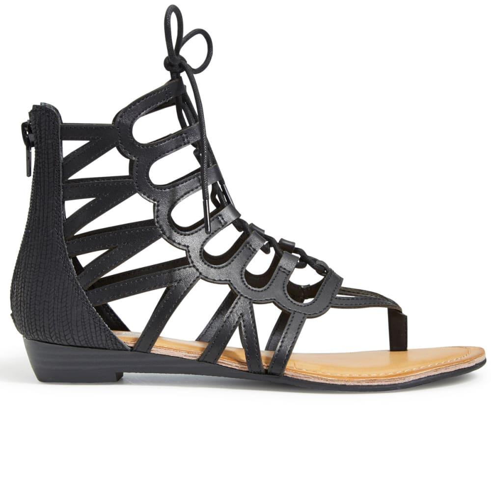 RAMPAGE Women's Salina 2 Gladiator Sandals, Black - BLACK