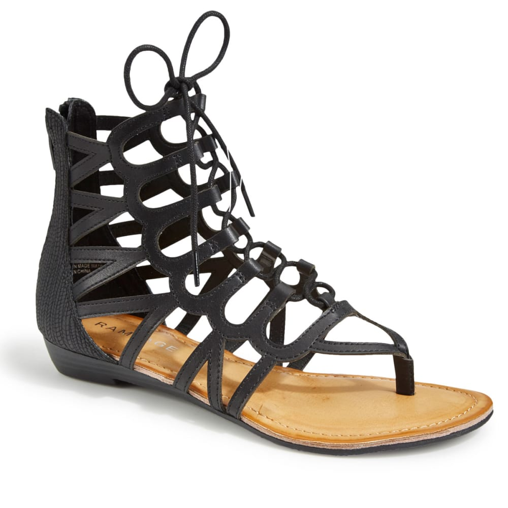 RAMPAGE Women's Salina 2 Gladiator Sandals, Black - BLACK