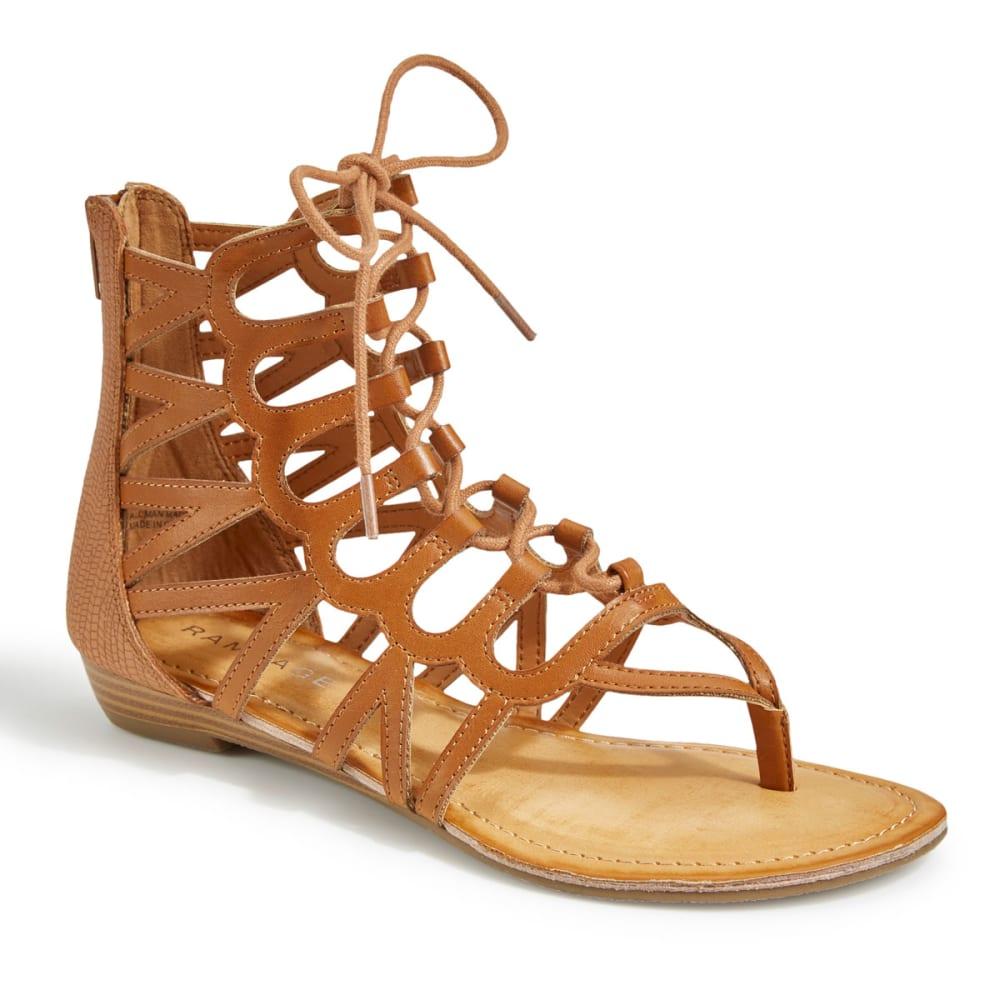 RAMPAGE Women's Salina 2 Gladiator Sandals, Cognac - COGNAC