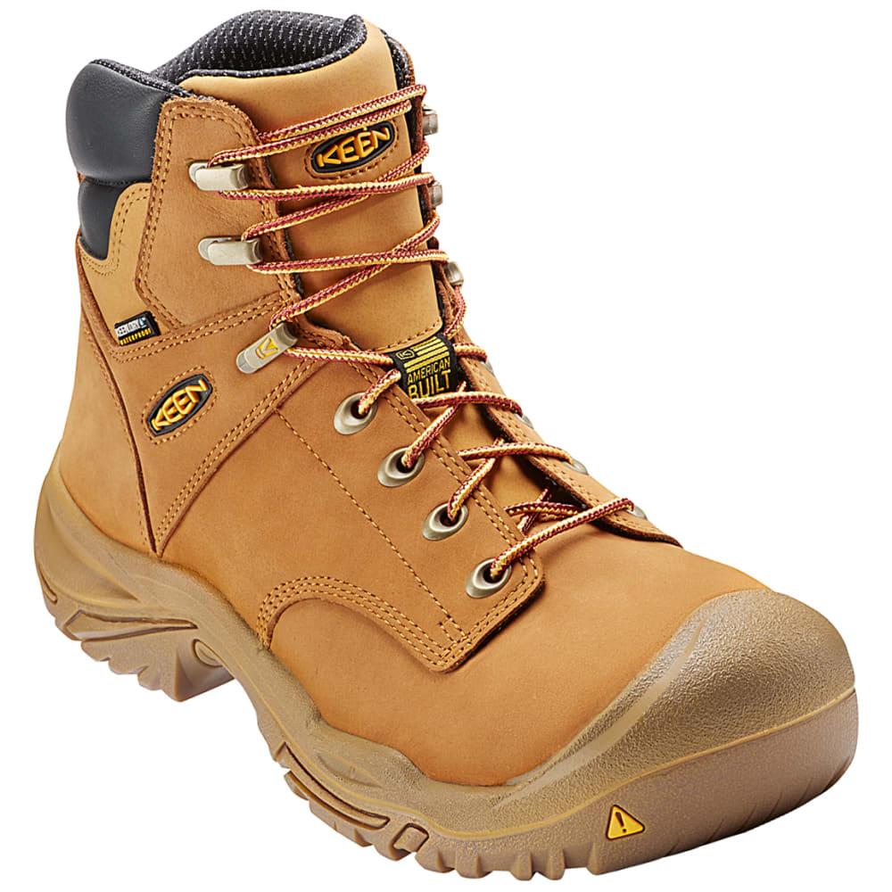 KEEN Men's Mt. Vernon Waterproof Steel Toe Mid Hiker Work Boots, Wheat - WHEAT