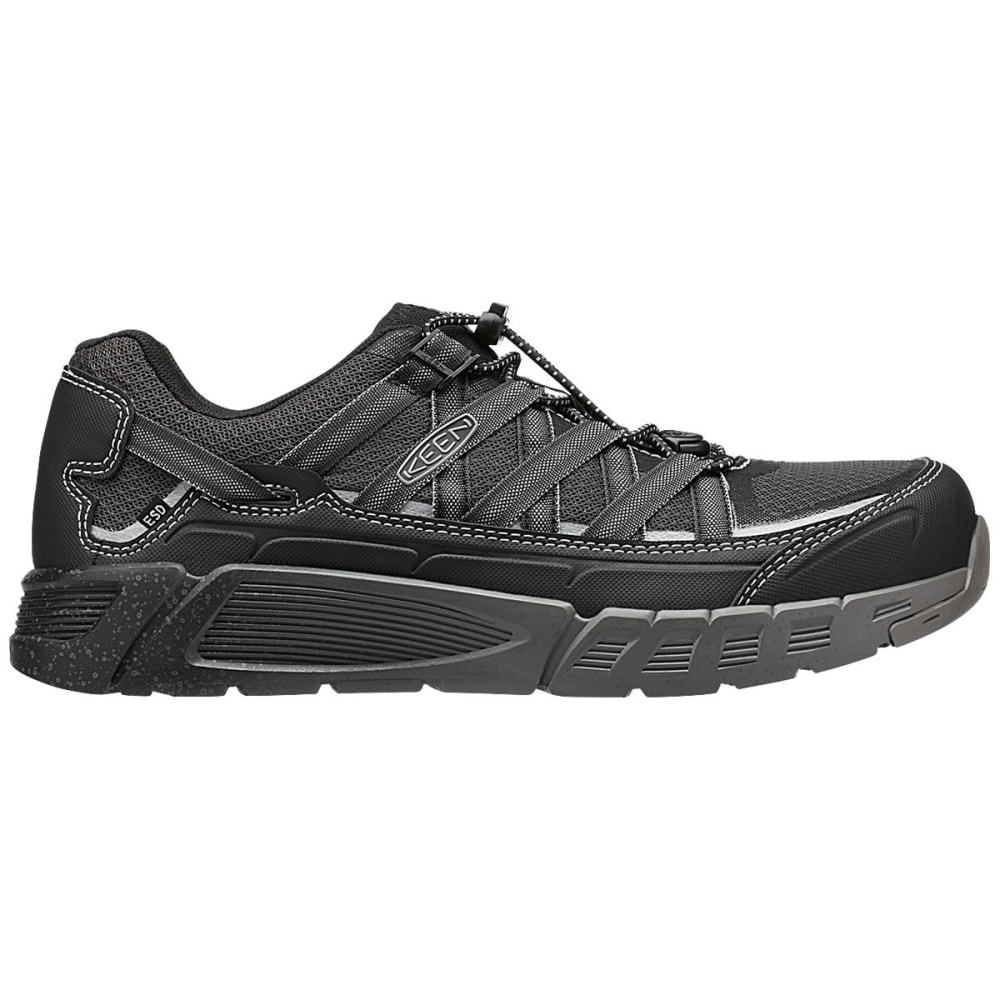KEEN Men's Asheville Aluminum Toe Work Shoes, Black/Raven - BLACK/RAVEN