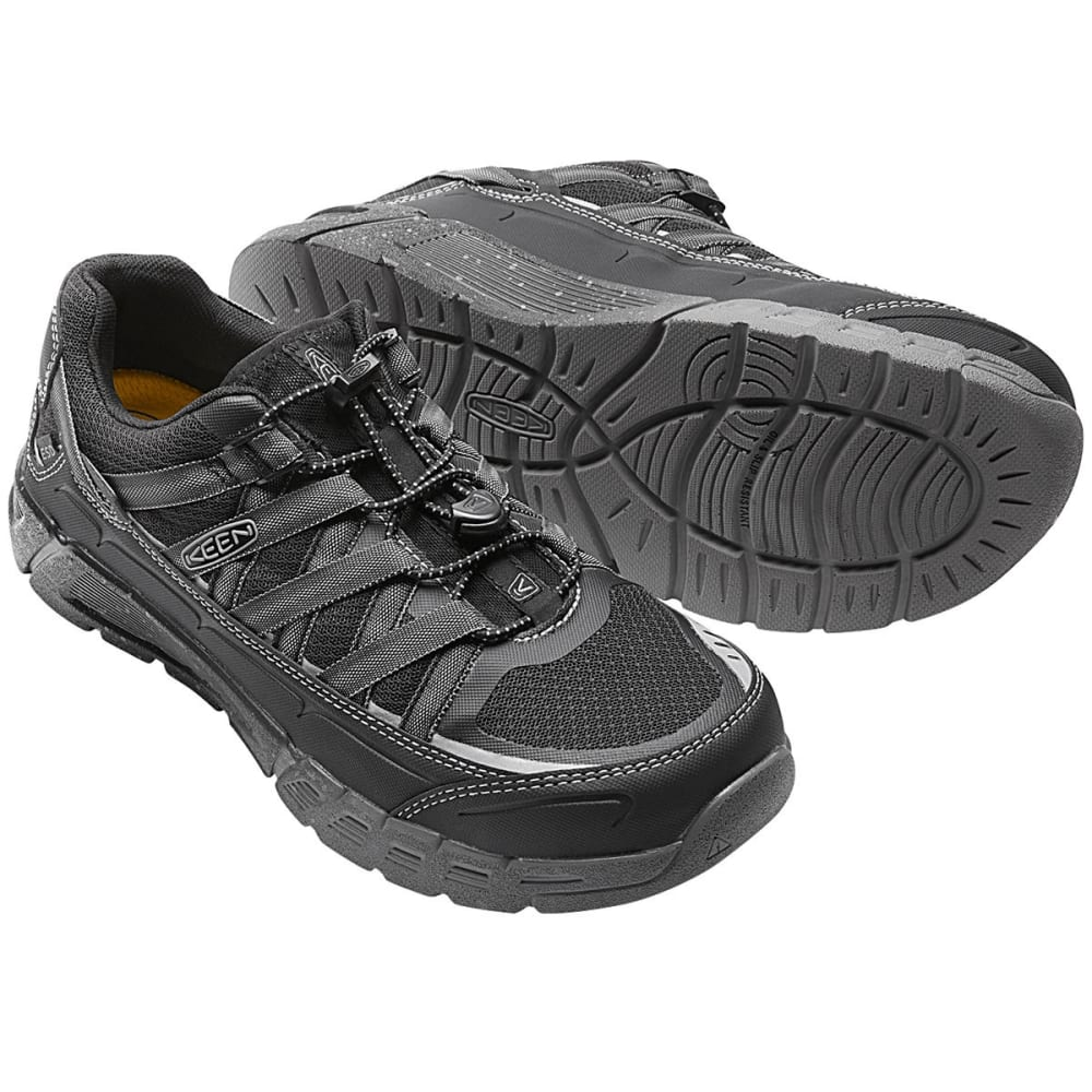 KEEN Men's Asheville Aluminum Toe Work Shoes, Black/Raven - BLACK/RAVEN
