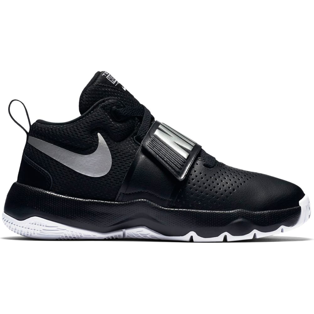 NIKE Boys' Team Hustle D8 Basketball Shoes - BLACK-001