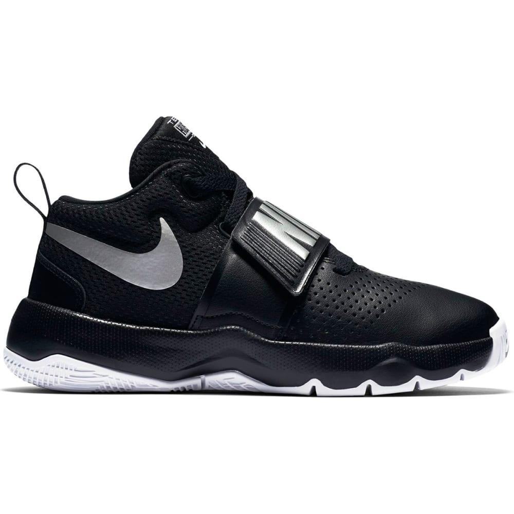 NIKE Boys' Team Hustle D8 Basketball Shoes - BLACK-001