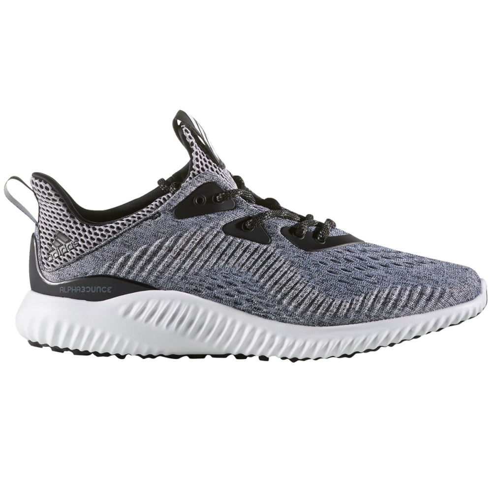 ADIDAS Women's AlphaBounce EM Running Shoes - BLK/WHT/BLK