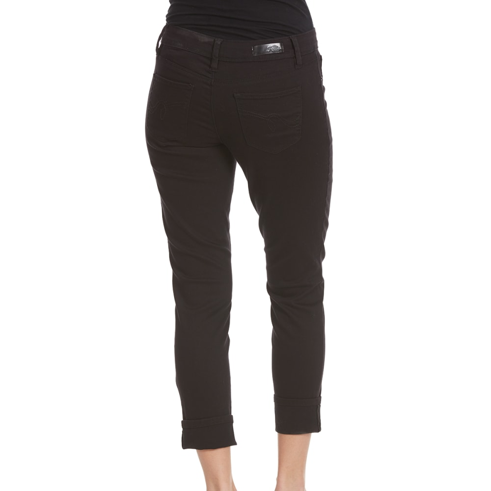 ROYALTY Women's Luxe Colored Twill Ankle Jeans - BLACK