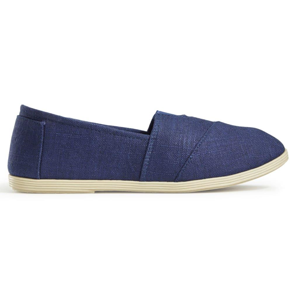 OLIVIA MILLER Women's Linen Canvas Shoes, Navy - NAVY