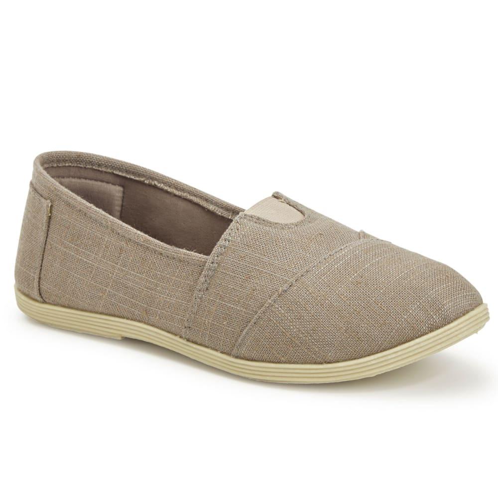 OLIVIA MILLER Women's Canvas Slip On Shoes - GREY