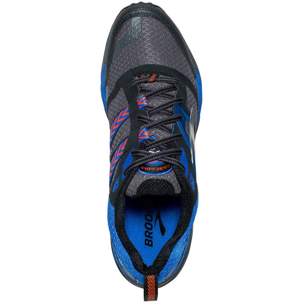 BROOKS Men's Cascadia 12 Trail Running Shoes, Anthracite/Electric Blue/Black - ANTHRACITE - 098