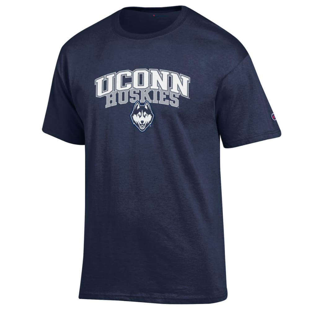 CHAMPION Men's UConn Dual Blend Short-Sleeve Tee - NAVY