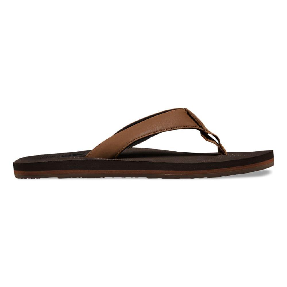 VANS Men's Nexpa Synthetic Flip Flops, Bison/Demitasse - BISON/DEMITASSE