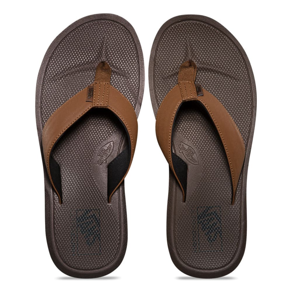 VANS Men's Nexpa Synthetic Flip Flops, Bison/Demitasse - BISON/DEMITASSE