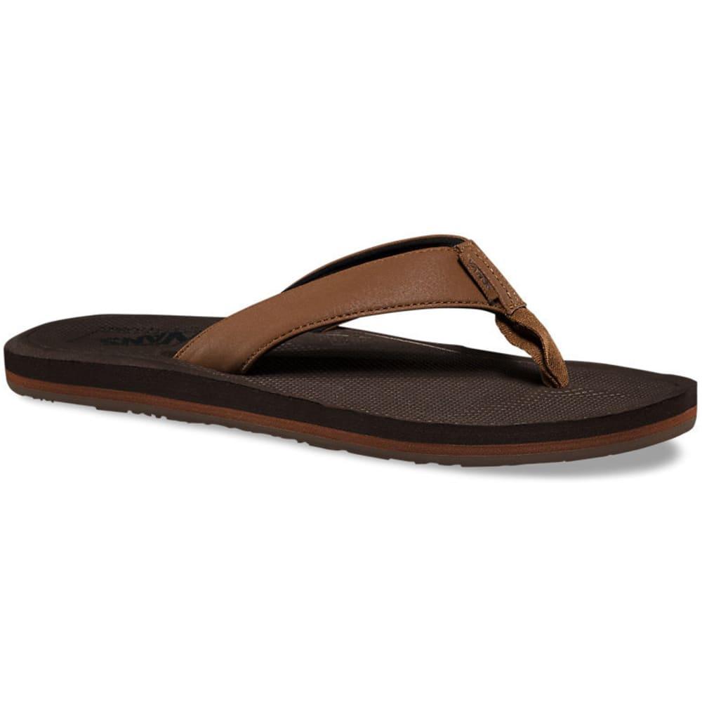 VANS Men's Nexpa Synthetic Flip Flops, Bison/Demitasse 8
