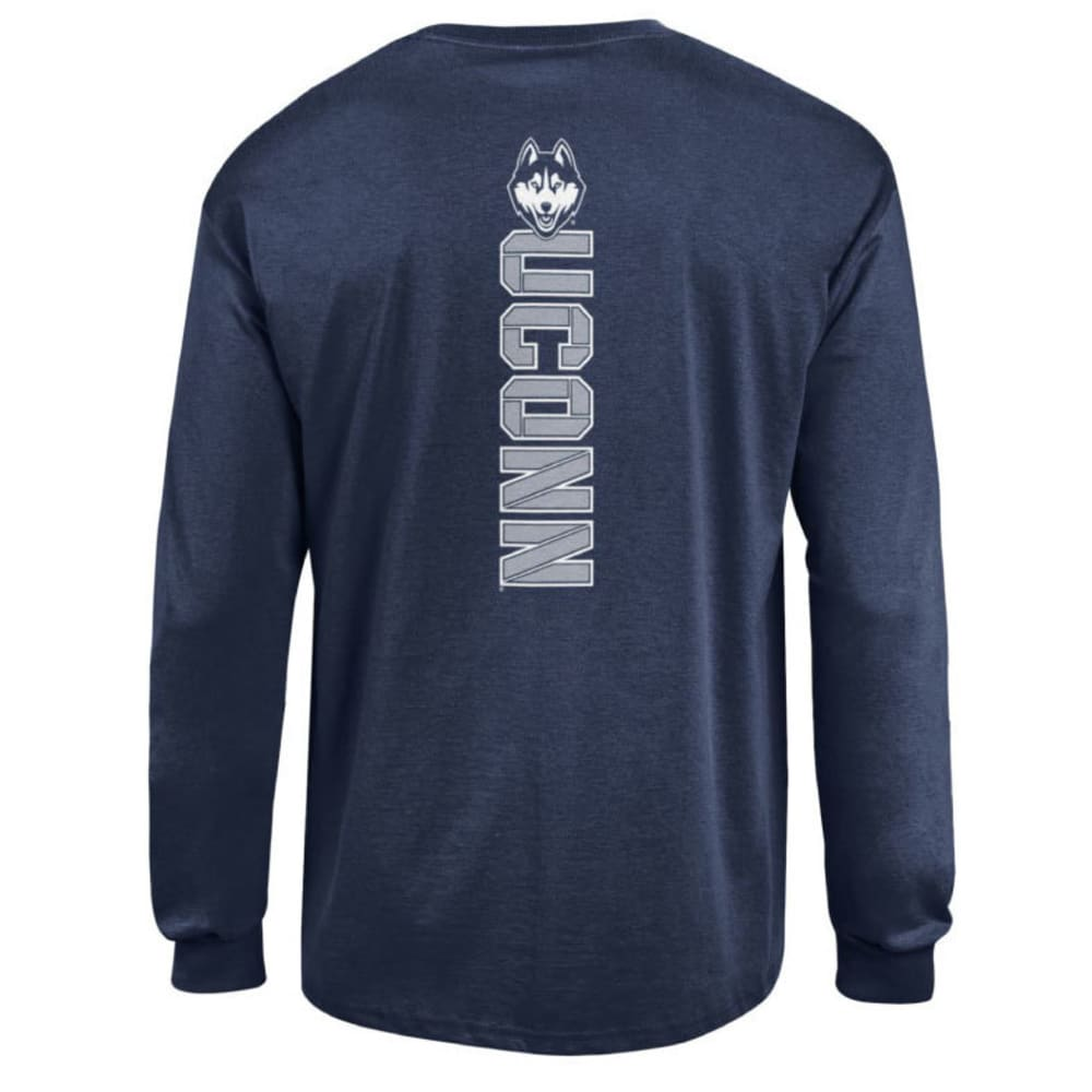 CHAMPION Men's UConn Back Logo Long-Sleeve Tee - NAVY