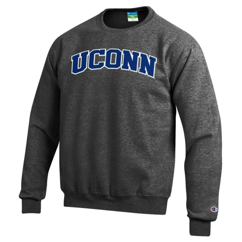 UCONN Men's Champion Huskies Powerblend Crew - GREY