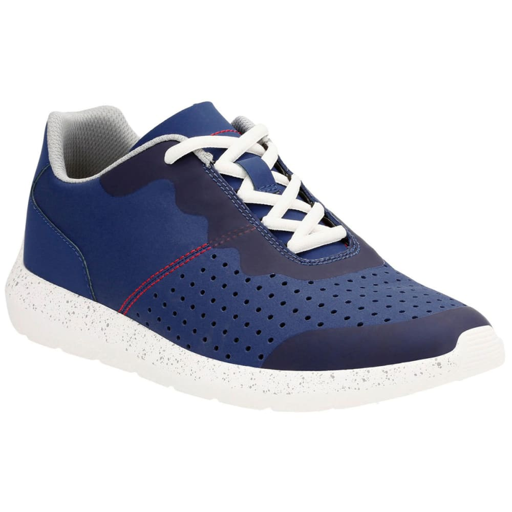 CLARKS Men's Torset Vibe Canvas Sneakers, Blue 8