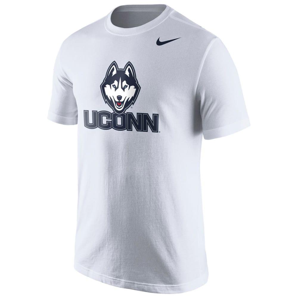 NIKE Men's UConn Logo Short-Sleeve Tee, White - WHITE