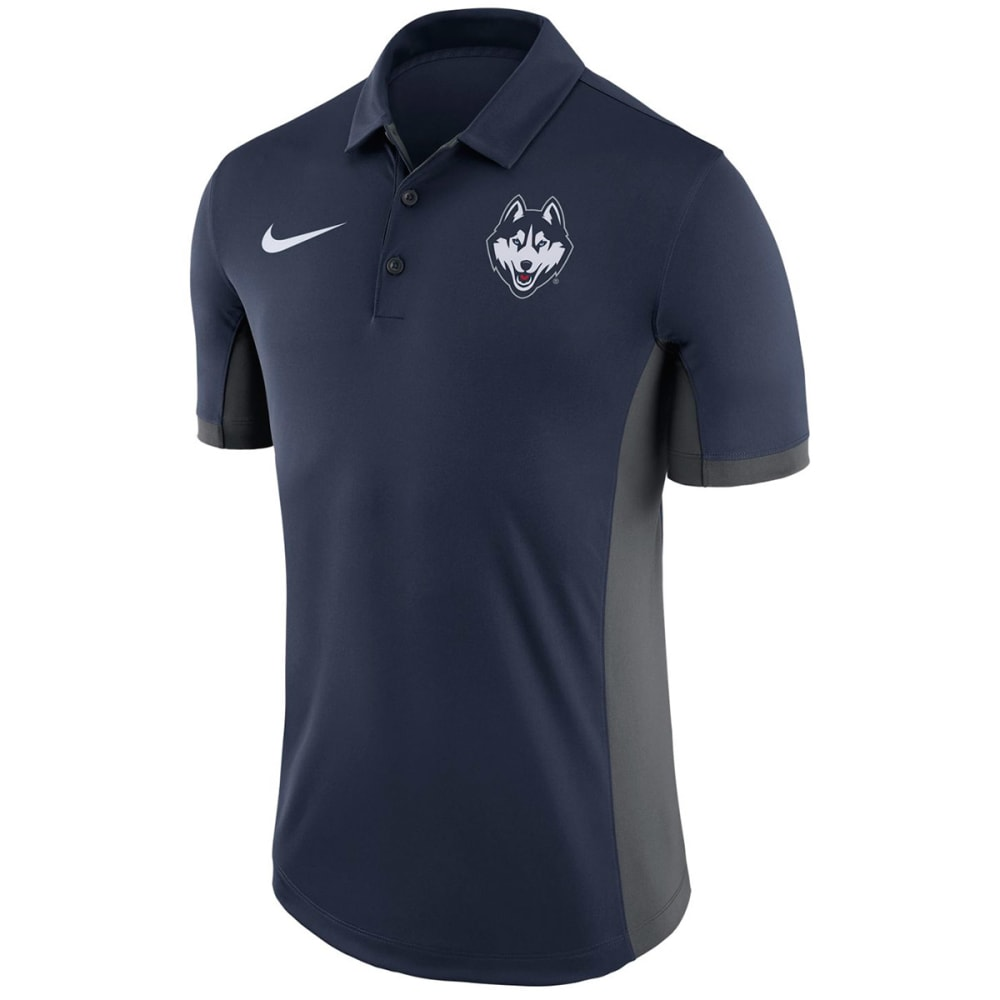UCONN Men's Nike Dry Polo Short Sleeve Shirt - NAVY