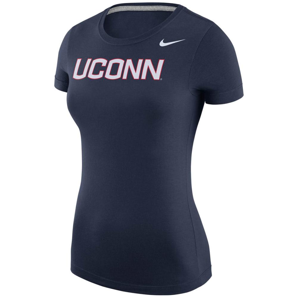 NIKE Women's UConn Logo Short-Sleeve Tee, Navy - NAVY