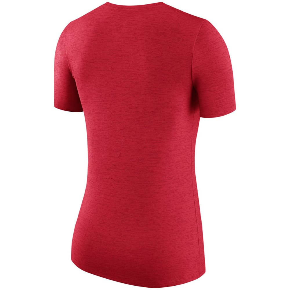 UCONN Women's Nike Dry Touch Heather Short Sleeve Tee - RED HEATHER
