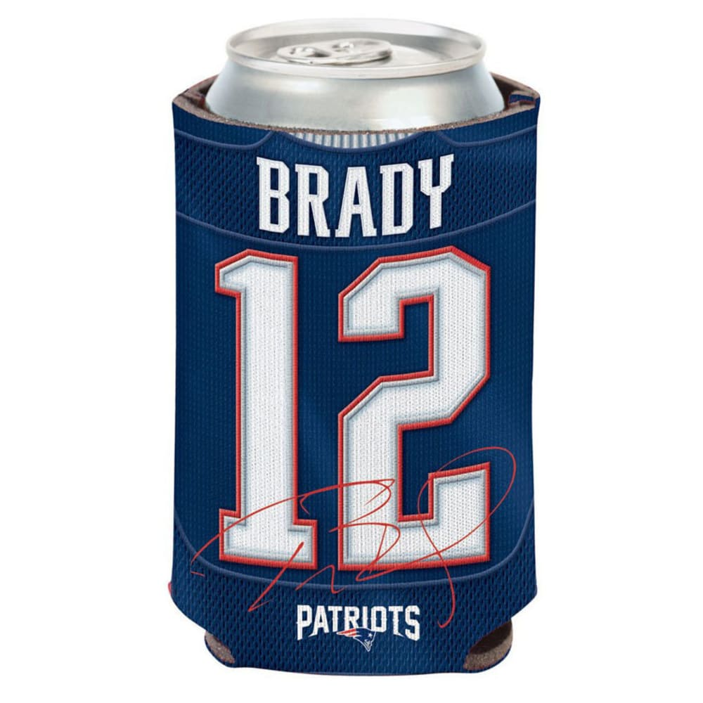 NEW ENGLAND PATRIOTS 12 oz. Brady Player Can Cooler - BLUE