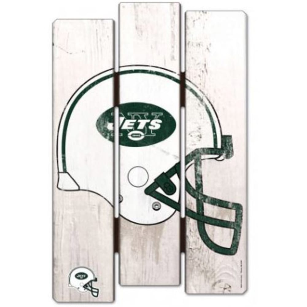 NEW YORK JETS Fence Wood Sign - GREEN