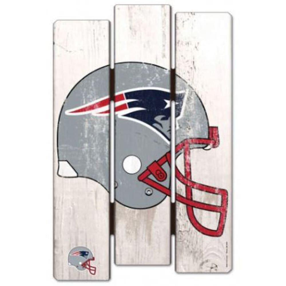 NEW ENGLAND PATRIOTS Fence Wood Sign - NAVY