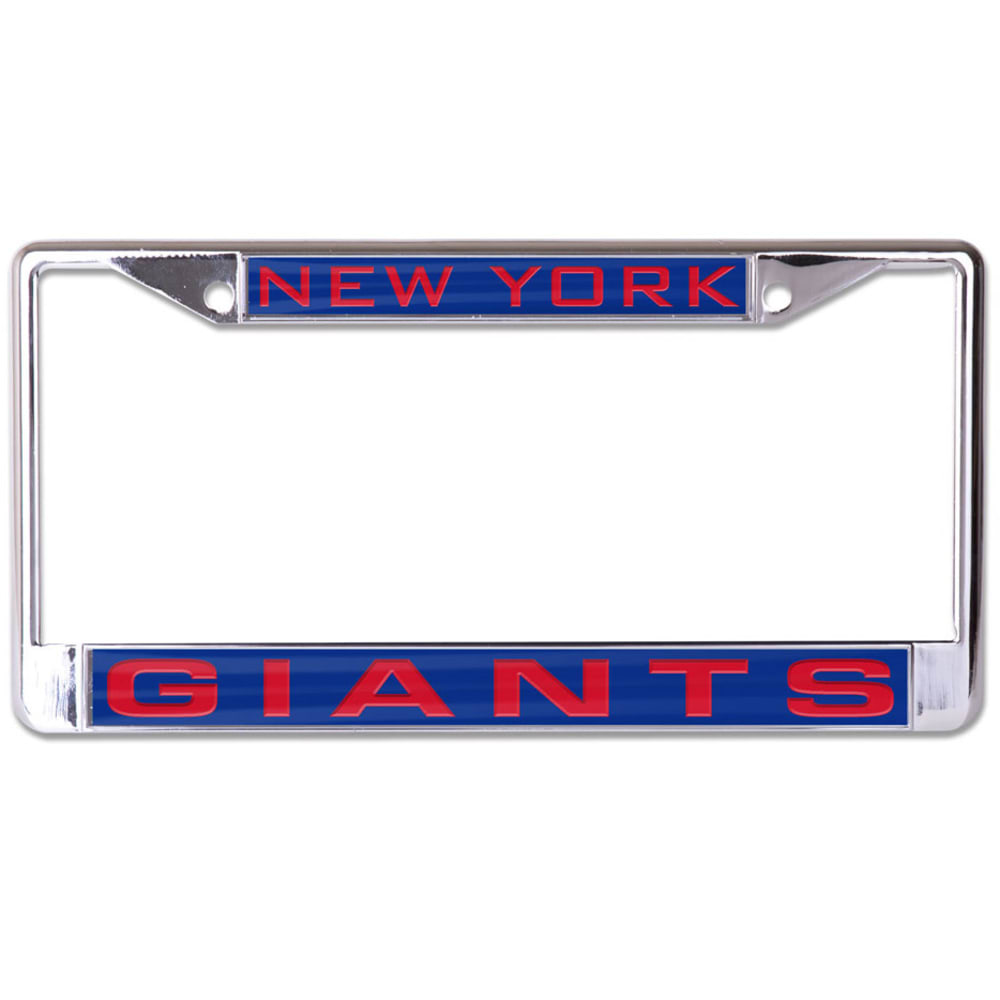 NEW YORK GIANTS Inlaid License Plate Frame - ROYAL BLUE
