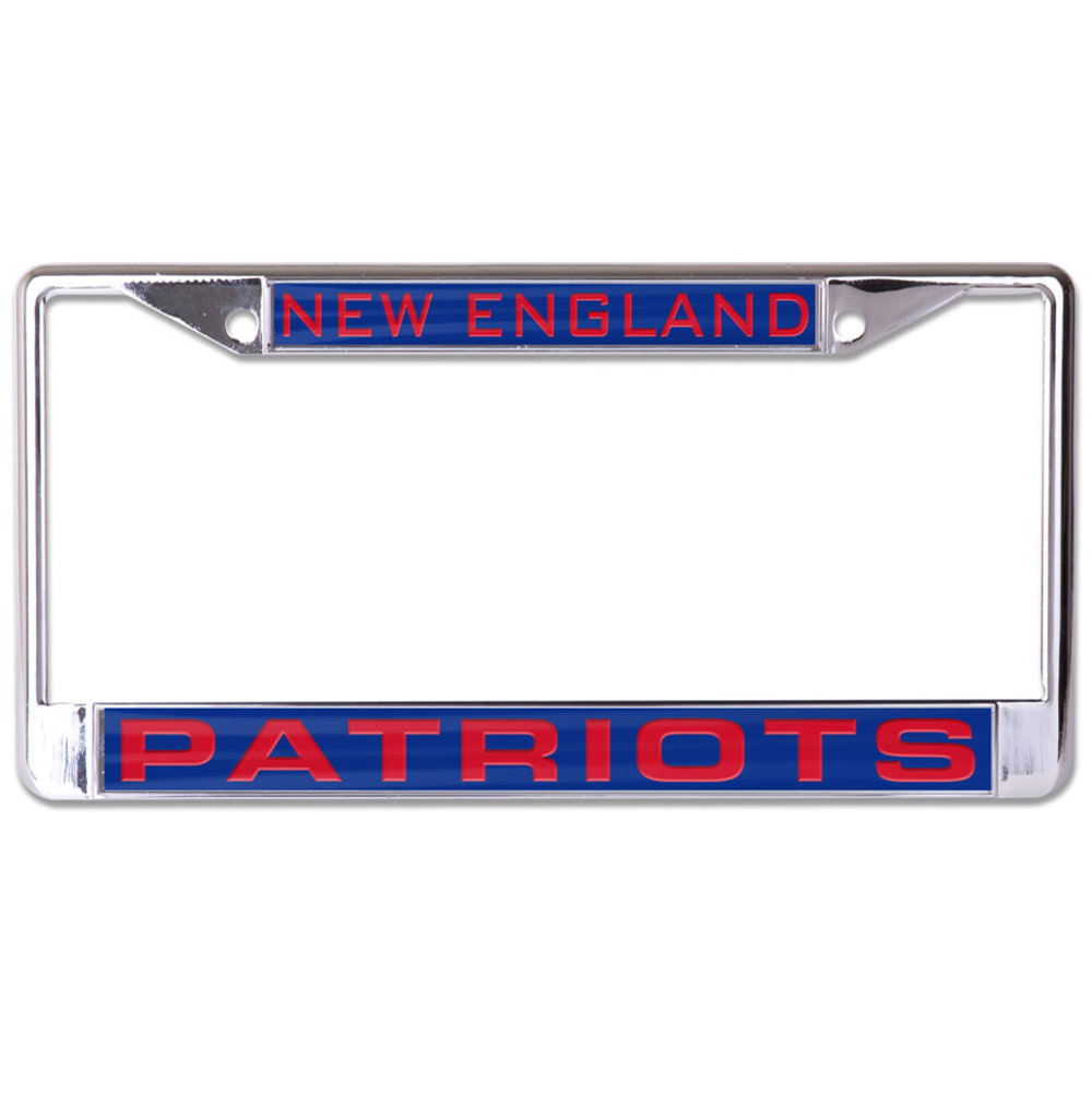 NEW ENGLAND PATRIOTS Inlaid License Plate Frame - NAVY