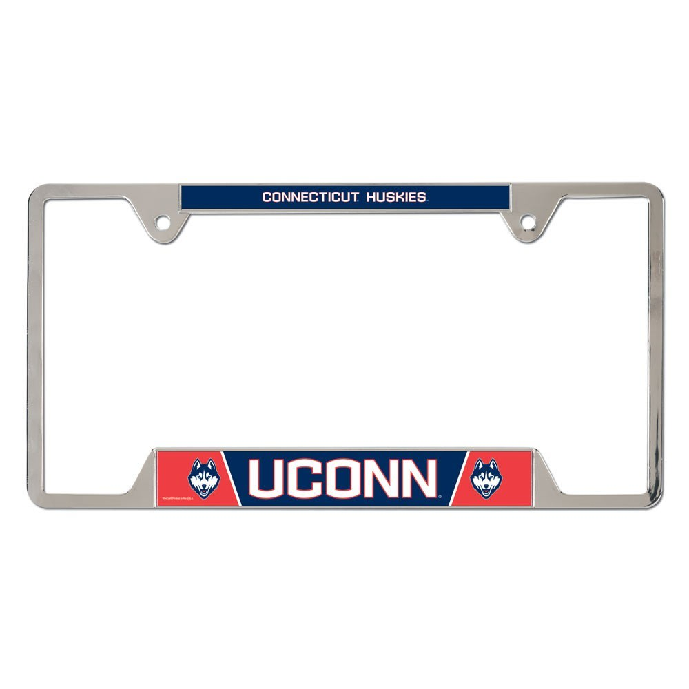 UCONN Inlaid License Plate Frame - NAVY