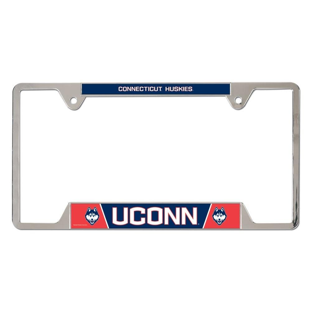 UCONN Inlaid License Plate Frame - NAVY