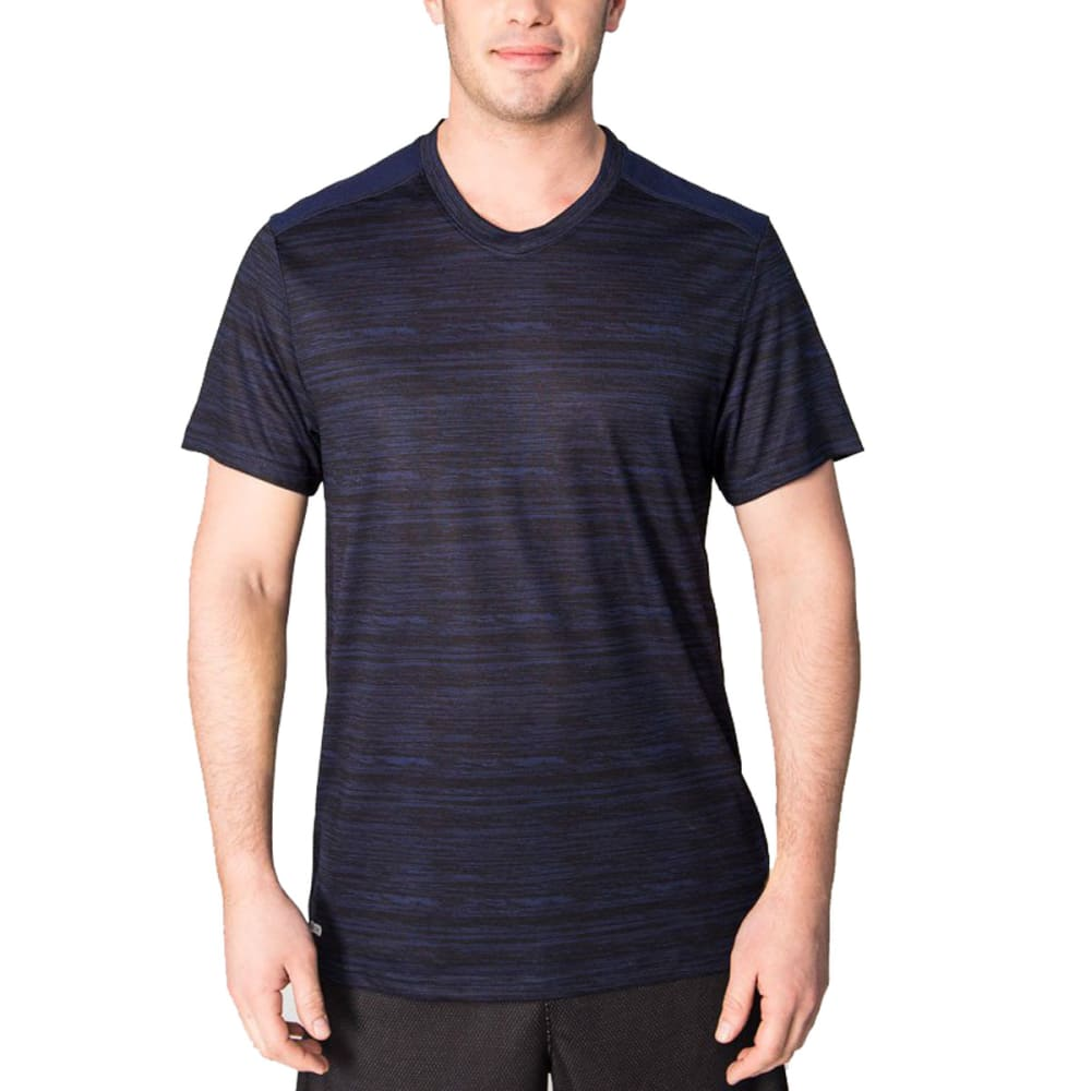 RBX Men's Poly Striated Fitted V-Neck Short-Sleeve Tee S