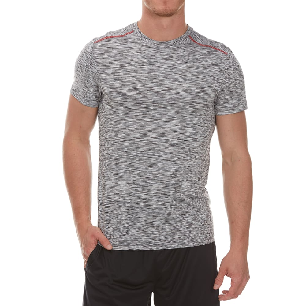 RBX Men's Mini Striated Fitted Crewneck Short-Sleeve Tee - GREY