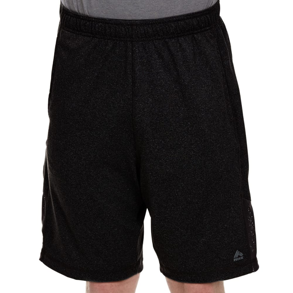RBX Men's 9 in. Poly Shorts with Self-Fabric Insert - BLACK