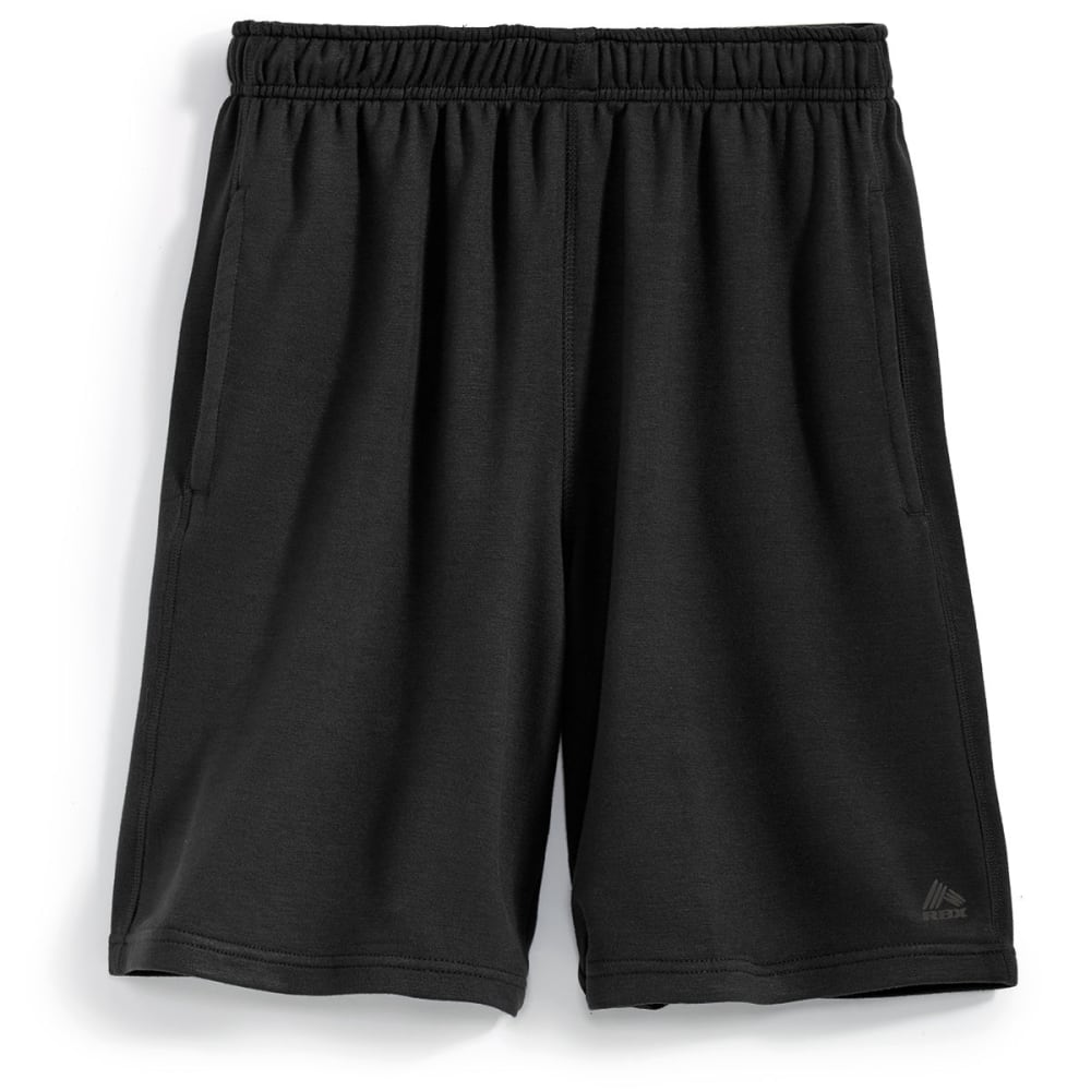 RBX Men's 9 in. Rayon Heather Shorts - BLACK HEATHER