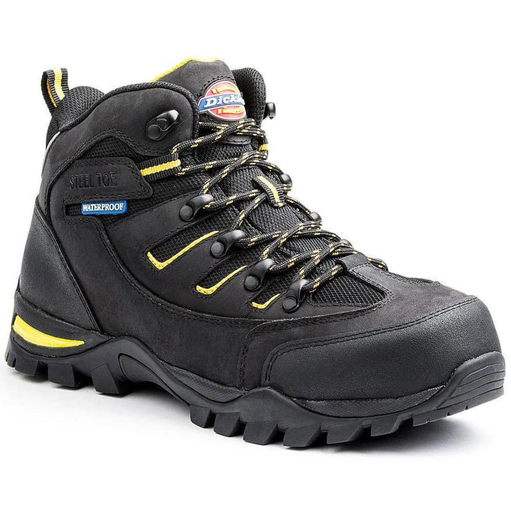 Dickies Men's Sierra Steel Toe Waterproof Hiker Work Boots - Black, 8