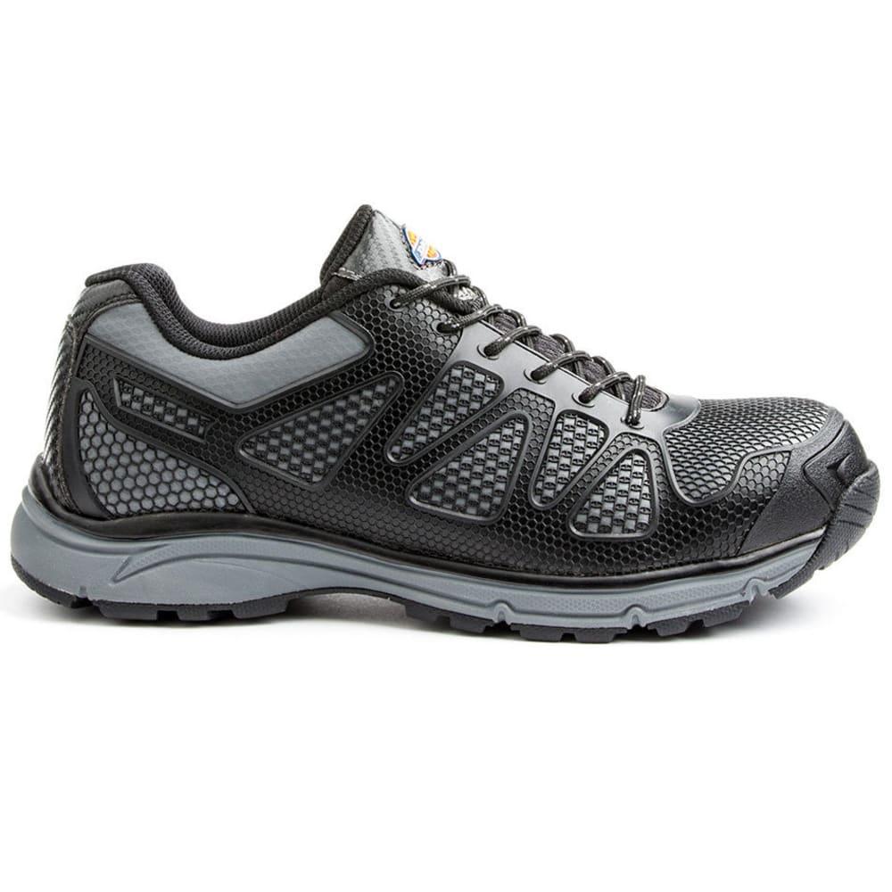 DICKIES Men's Fury Low Steel Toe Work Shoes - BLACK