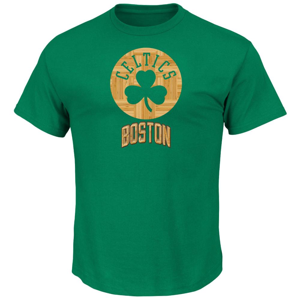 BOSTON CELTICS Court Tek Patch Tee - GREEN