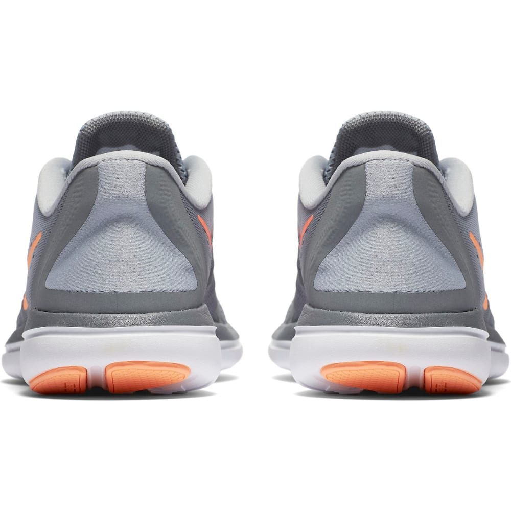 NIKE Women's Flex 2017 RN Running Shoes - WOLF GRY/SUNSET GLO