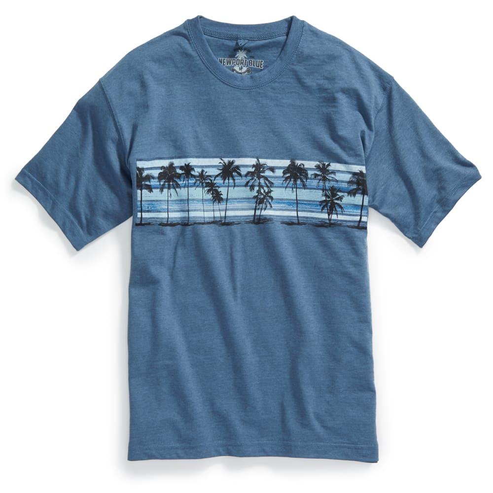 NEWPORT BLUE Men's Palm Ocean Short-Sleeve Tee - HEATHER OCEAN - 496