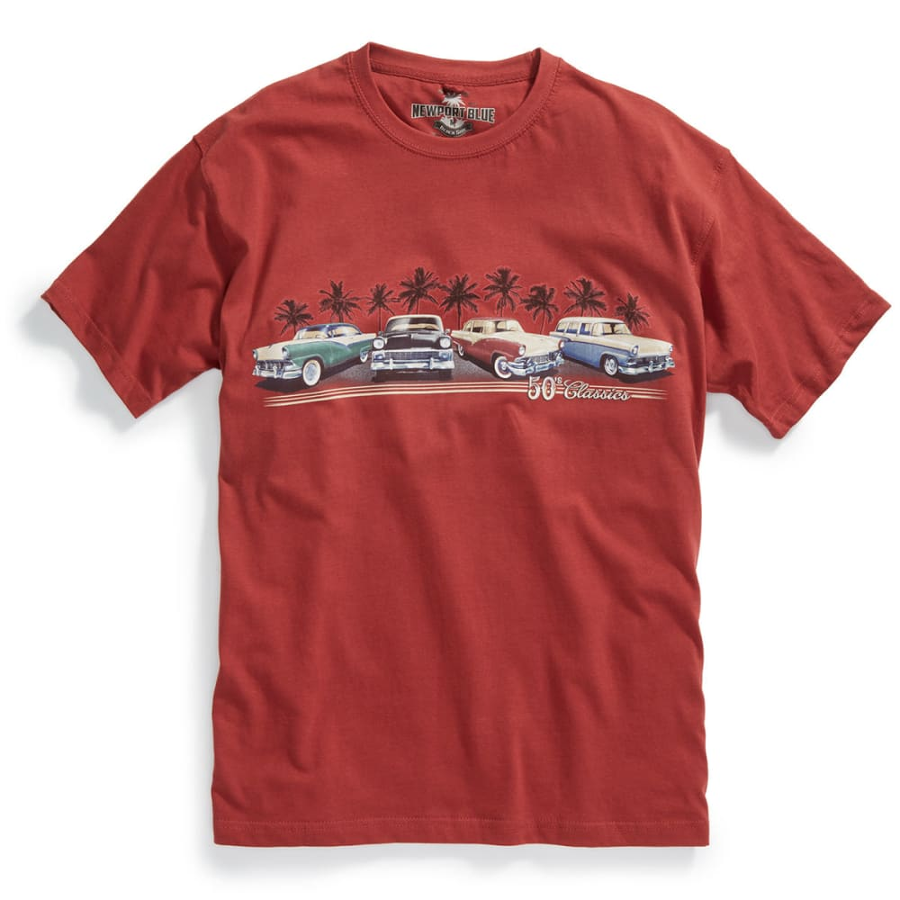 NEWPORT BLUE Men's '50s Classic Cruise Short-Sleeve Tee - CORTEZ RED - 615