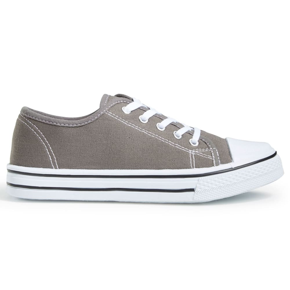 OLIVIA MILLER Women's Lace-Up Low-Top Sneakers - GREY