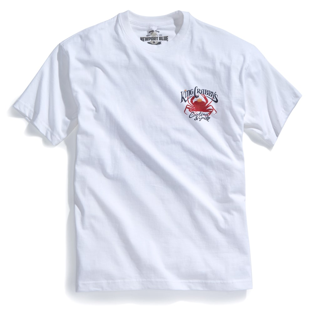 NEWPORT BLUE Men's King Crabby's Short-Sleeve Tee - WHITE - 120