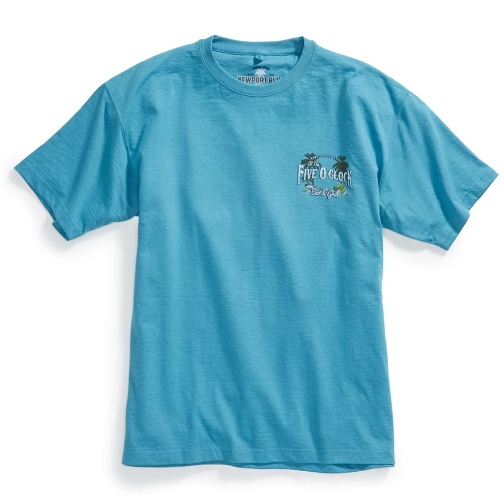 NEWPORT BLUE Men's Five O'Clock Bar Short-Sleeve Tee - HTR SEAGLASS - 369