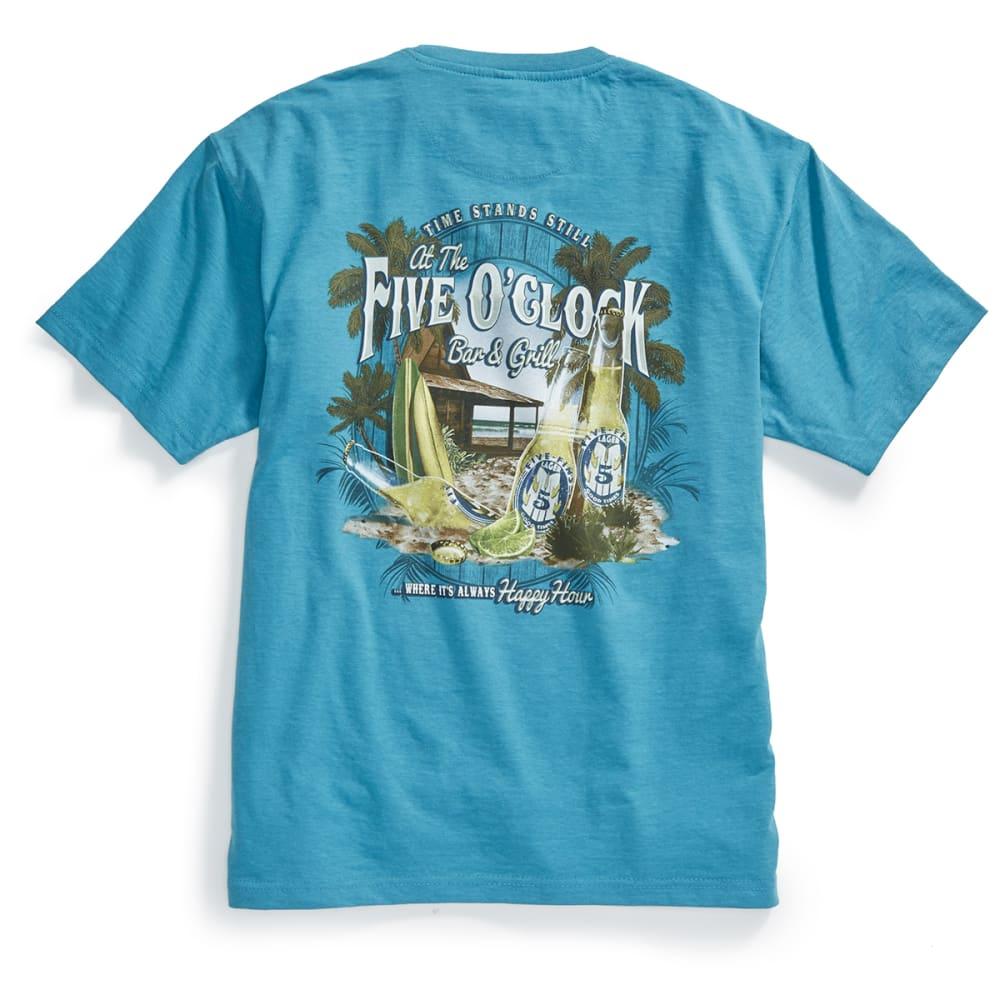 NEWPORT BLUE Men's Five O'Clock Bar Short-Sleeve Tee - HTR SEAGLASS - 369