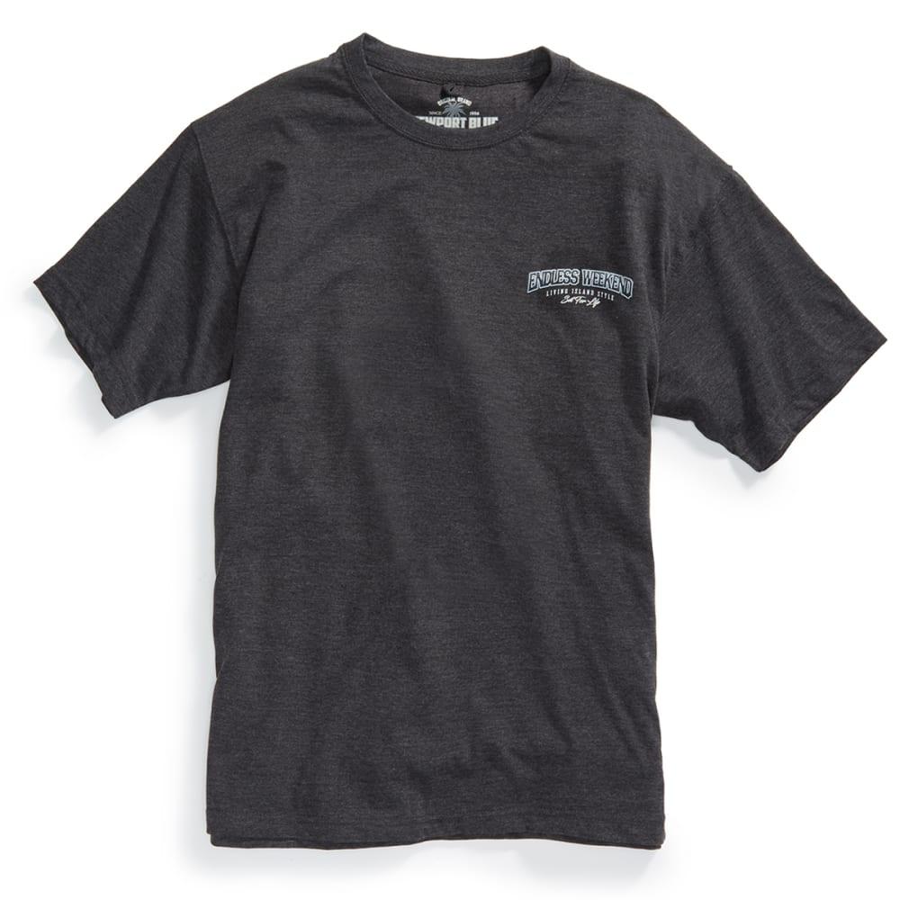 NEWPORT BLUE Men's Endless Weekend Short Sleeve Tee - HTR CHARCOAL - 022